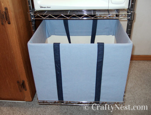DIY fabric-covered box = recycling tote